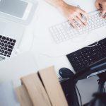 registering vacancy on laptop